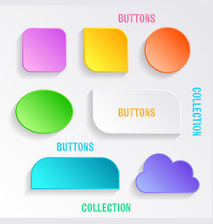 buttons with shadows vector image