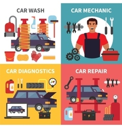 Car service maintenance auto transport vector