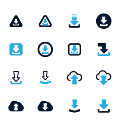 Download icons set vector