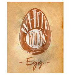 Egg cutting scheme craft vector