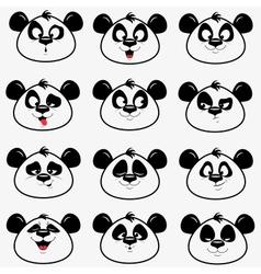 Panda smile vector image