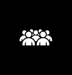 groupe of people icon business concept flat vector image