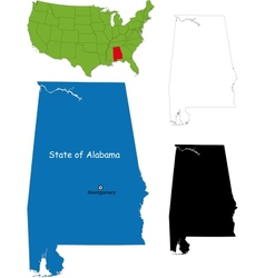 Alabama map vector