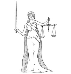 Goddess of justice vector