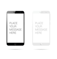 Mobile phone set space for message vector