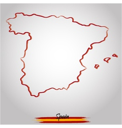 Map of spain vector
