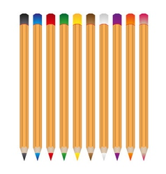 Set of various color wooden crayons eps10 vector