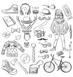 Hand-drawn hipster style vector