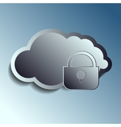 Steel 3d clouds securety vector