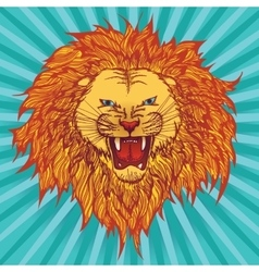 Grin lion vector