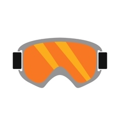 Snowboarding sport glasses design protection vector image
