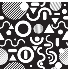 Seamless pattern black and white vector image