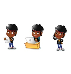 Afro Guy 3 vector image vector image