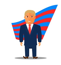 Cartoon Character Man in Blue Suit for Election vector image