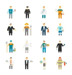 Character icon flat vector