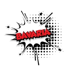 Comic text bavaria sound effects pop art vector