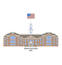Delaware state capitol vector