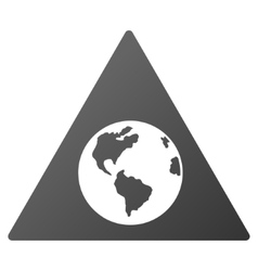 Earth warning gradient icon vector