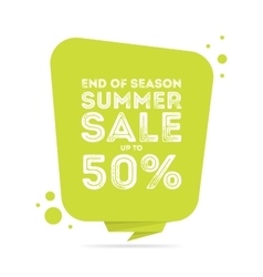 End of season summer big sale banner vector