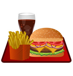 Fast food combo vector