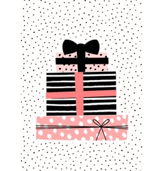 Gift boxes greeting card design vector