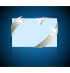 greeting card with ribbon vector image vector image