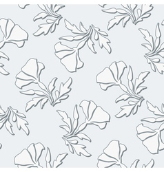 Grey floral pattern vector image vector image