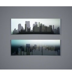 horizontal banners of city vector image vector image