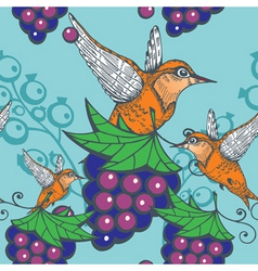 humming bird pattern vector image
