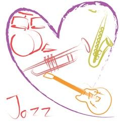 Jazz music lover vector