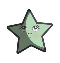 Kawaii thinking and cute star design vector