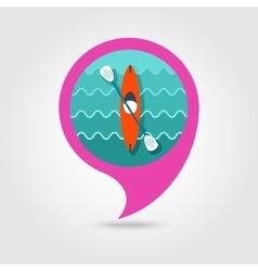 Kayak pin map icon Canoe Summer Vacation vector image