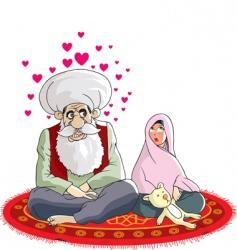 Muslim wedding vector image vector image