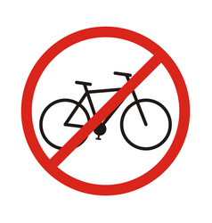 no bike allowed sign in white background vector image