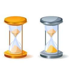 realistic sandglass vector image vector image