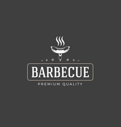 restaurant logo template object for vector image