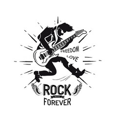 rock forever freedom and love vector image vector image