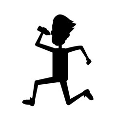 running or jogging icon image vector image vector image