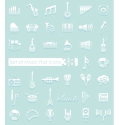 Set of music icons vector