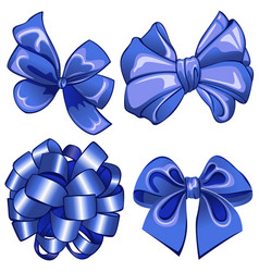 Set with blue bows vector