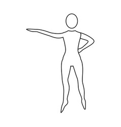 Silhouette woman stand up vector