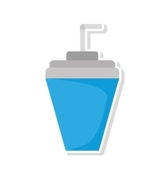 Soda drink beverage isolated icon vector