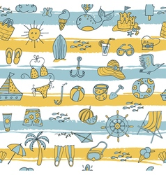 Summer pattern with strieps vector