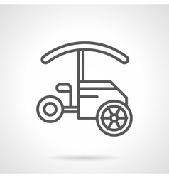 Tricycle food cart black line icon vector