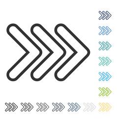 Triple pointer right icon vector