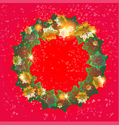 Winter festive wreath vector