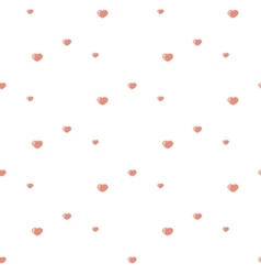 Hearts pattern Pink vector image