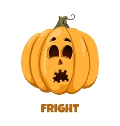 Pumpkin for halloween emotions fright vector