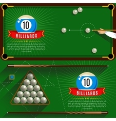 Play billiards realistic compositions vector