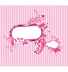 funky frame vector image